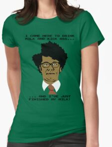 Moss Finishes His Milk... Womens Fitted T-Shirt