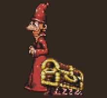 Rincewind from Discworld - Pixel Retro DOS game fan shirt by hangman3d