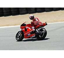 Casey Stoner at laguna seca 2010 Photographic Print