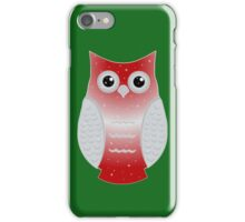 Red Snow Owl iPhone Case/Skin
