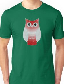 Red Snow Owl Unisex T-Shirt