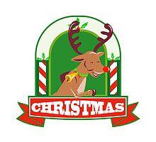 Reindeer Deer Stag Buck Christmas by patrimonio