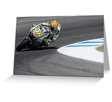 Valentino Rossi at laguna seca 2010 Greeting Card