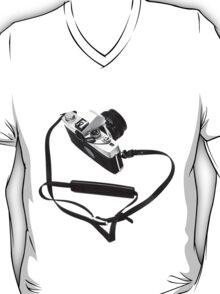 Digital camera isolated on white background DSLR T-Shirt