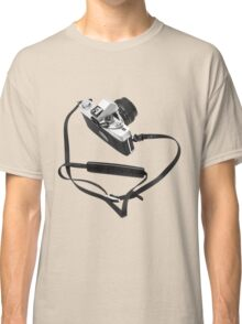 Digital camera isolated on white background DSLR Classic T-Shirt