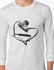 Digital camera isolated on white background DSLR Long Sleeve T-Shirt