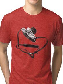 Digital camera isolated on white background DSLR Tri-blend T-Shirt
