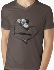 Digital camera isolated on white background DSLR Mens V-Neck T-Shirt