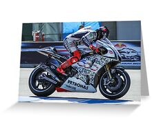 Jorge Lorenzo at laguna seca 2010 Greeting Card