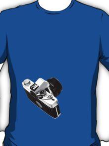 Digital camera isolated on white background DSLR on T-Shirt T-Shirt