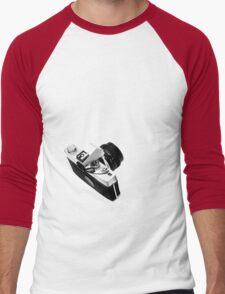 Digital camera isolated on white background DSLR on T-Shirt Men's Baseball ¾ T-Shirt