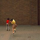 Girls playing. Manhattan 1974. by Daniel Sorine