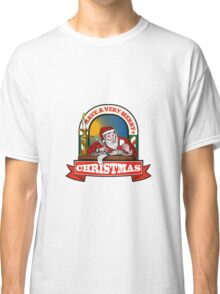 Santa Claus Father Christmas Writing Letter Classic T-Shirt