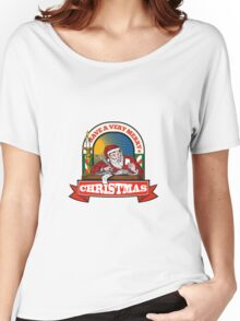 Santa Claus Father Christmas Writing Letter Women's Relaxed Fit T-Shirt