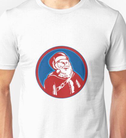Santa Claus Father Christmas Retro Unisex T-Shirt