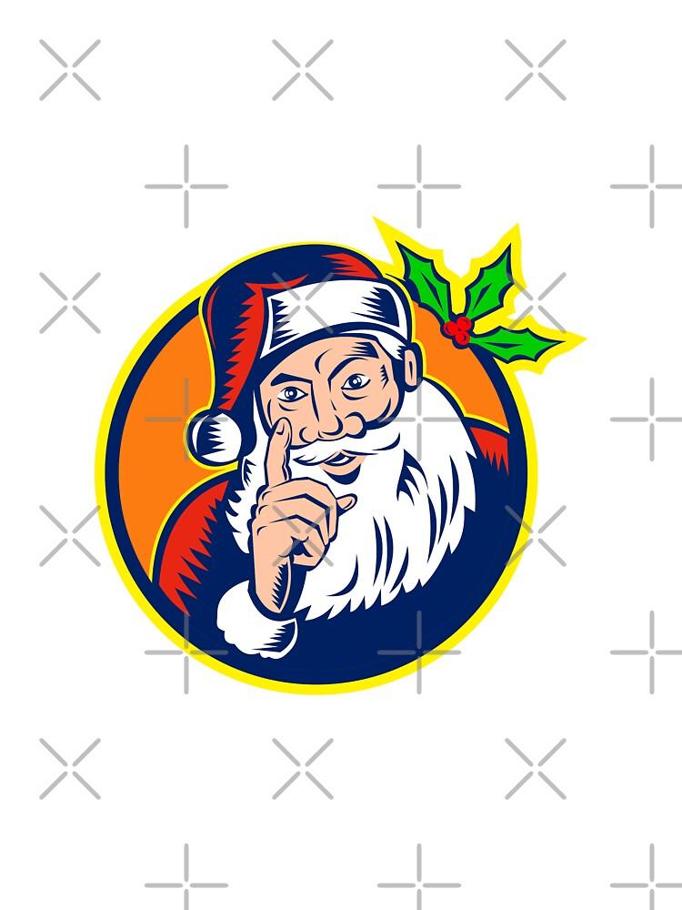 Santa Claus Pointing Finger Retro by patrimonio