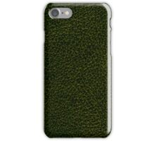 Dark green leather iPhone Case/Skin