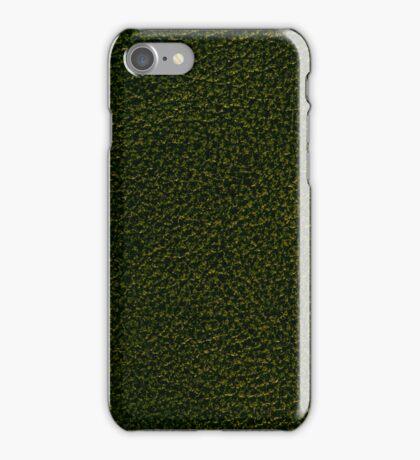 Dark green leather iPhone Case/Skin