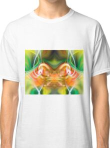 Green & Yellow Twirl with Feathers Classic T-Shirt