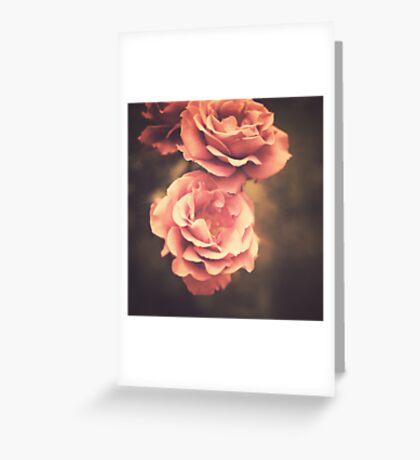 Pink Vintage Roses Greeting Card