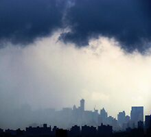 Stormy City, New York City by Alberto  DeJesus