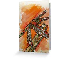 Dragonfly Burst Greeting Card