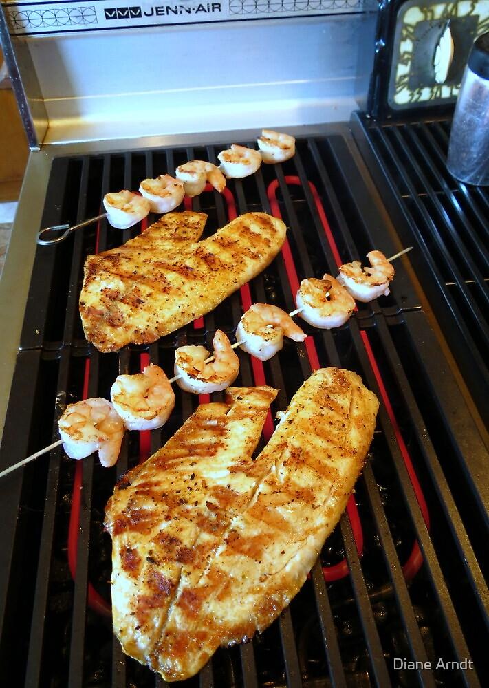Grilled Tilapia and Shrimp Kabob's by Diane Arndt