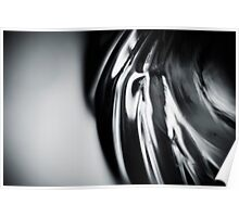 Silver Swirl MAX : Black and White Poster