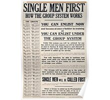 Single men first How the group system works 320 Poster