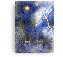 In Night On Meadow Canvas Print