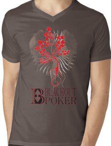 Blackout Poker-Poker Tree Mens V-Neck T-Shirt