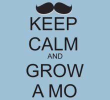 KEEP CALM AND GROW A MO Kids Clothes