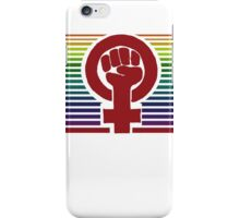 Retro Feminism symbol iPhone Case/Skin