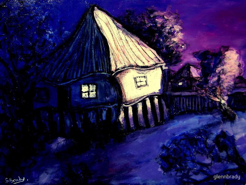 old brisbane house on dusk by glennbrady