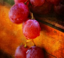 Red Grapes by Dragos Dumitrascu