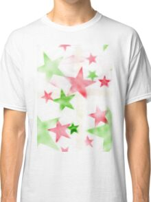 Air Brush Star Pattern Classic T-Shirt