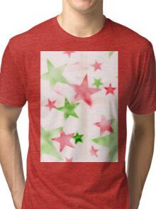 Air Brush Star Pattern Tri-blend T-Shirt