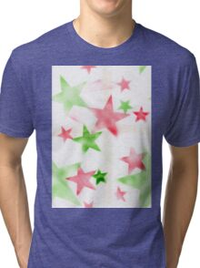 Air Brush Star Pattern Tri-blend T-Shirt