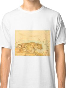 Leopard Oil Pastel Drawing Classic T-Shirt