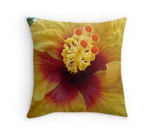 Gorgeous Yellow Hibiscus Throw Pillow