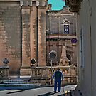 Way to Church (Zebbug Parish Malta) by Edwin  Catania
