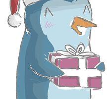 christmas penguin! by hippopotami
