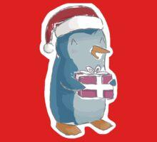 christmas penguin! Kids Tee