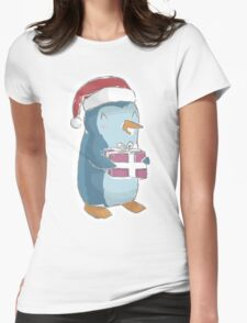 christmas penguin! Womens Fitted T-Shirt