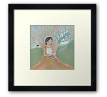 Love of a Girl and her Owl Framed Print