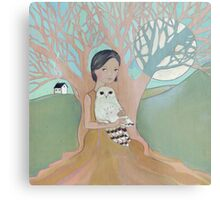 Love of a Girl and her Owl Metal Print