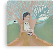 Love of a Girl and her Owl Canvas Print
