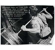 Arnold Schwarzenegger - Your Struggles Develop Your Strengths Poster