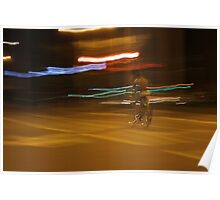 Bicyclist in the night Poster