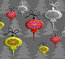 """Mid-Century Swedish Ornaments Tall""© by Lisa Clark for Thinker Collection - STEM Art"